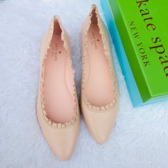 5ecdada21fb0 Kate Spade ♤️Pink Napa Leather  Nicole  Flat 10.5